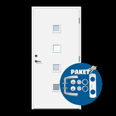 Kika - dörr med lås och trycke på köpet - Glasad