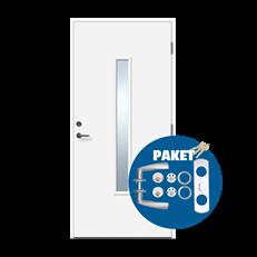 Harmoni - dörr med lås och trycke på köpet - Glasad