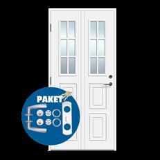 Lycka - dörr med lås och trycke på köpet - Glasad