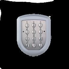 Kodlås, trådlöst, 3-kanal (knappsats rostfritt stål) 433 MHz